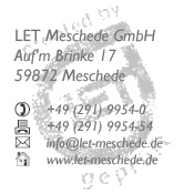 Firmenstempel LET Meschede GmbH