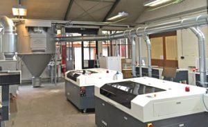 Absaugung am MDF Laser Cutter