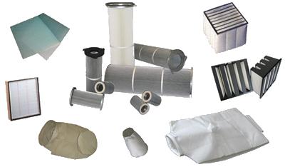 Filtermedien: Glasfasermatte, Filterpatronen, Taschenfilter, Schwebstofffilter, Kompaktfilter, Filtersäcke, Sonderanfertigungen