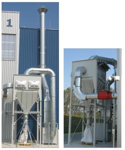 Explosionsgeschützte Filterzentralen für GFK Schleifstaub