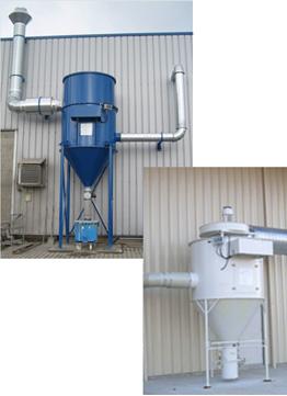Patronenfilteranlagen Palettenbürstenabsaugung Baustoffindustrie