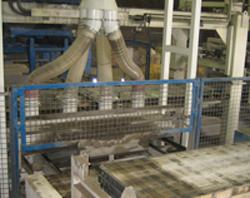 Palettenbürstenabsaugung Baustoffindustrie