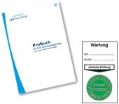 Wartungs-Prüfbuch und -Plakette von LETmeschede
